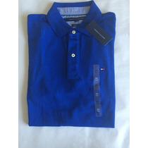 Camiseta Polo Tommy Hilfiger Masc. Azul Royal Classic Fit