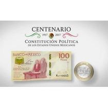 Billete De 100 Pesos Del La Constitucion Mexicana De 1917