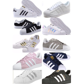adidas superstar blancas con colores
