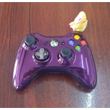 Control Morado Chrome Series Original Inalambrico Xbox 360