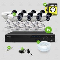 Kit Segurança Dvr Intelbras 16 Canais 8 Câmeras Infra Sony