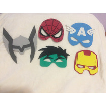 Máscaras Super Heróis Em Eva