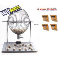 Jogo Bingo Globo Cromado Nº3 +400 Cartelas + Frete Grátis