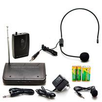 Microfone De Lapela Sem Fio Wireless Headset Kit Completo