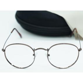 ab6d1b96164c5 Armação Feminina Para Óculos D Grau Prada Marrom Com Dourado ...