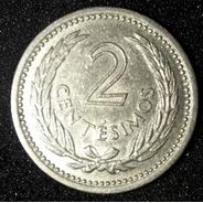 Moeda 2 Centesimos Ano 1953 Uruguai