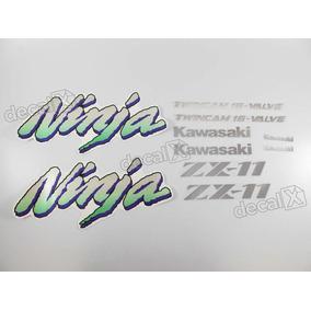 Kit Faixa Emblema Adesivo Kawasaki Zx11 1994 Preta Zx 11