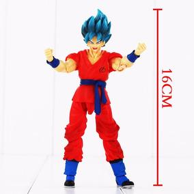 Goku Deus Azul Articulado Dragon Ball Super - Sob Encomenda
