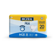 Fralda Bigfral Regular Plus Tamanho M - 20 Unidades