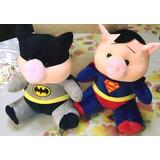 Peluche Chanchito Superman Y Batman Importados