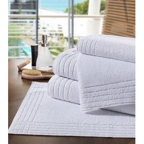 Kit Com 4 Tapetes Para Banheiro - Toalha De Piso Platinum