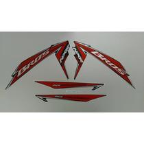 Kit Adesivos Honda Nxr 150 Bros Es Mix 2010 Preta