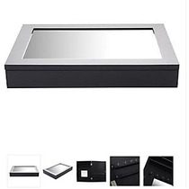 Espejo Joyero Negro 28 X 40 Cm - Blanco O Negro