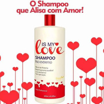 04 Unidades Shampoo Alisante Liso Extremo Is My Love 500ml