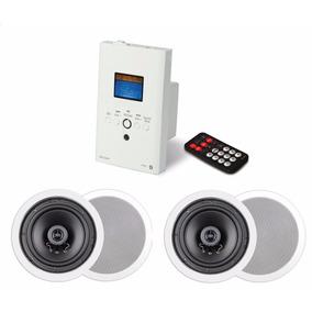 Kit Som Ambiente Caixas Gesso Amplificador Parede Bluetooth