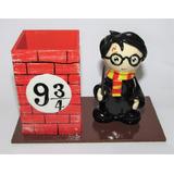 Harry Potter - Porta-lápis Artesanal Em Biscuit