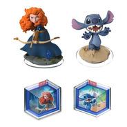 Kit Disney Infinity - Merida + Stitch + 2 Power Discs