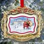 2011 Casa Blanca Ornamento De La Navidad, Santa Visita La C