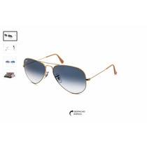Oculos Ray Ban Aviador Rb 3026 62mm Azul Degrade Original