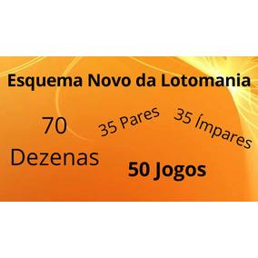 Planilha Lotomania - 70 Dezenas - 35 Pares E 35 Ímpares