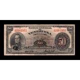 Bello Y Difícil Billete De 50 Bolívares 1960 Serial G2382352