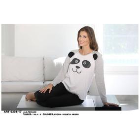Pijama Algodon Motivo Panda Donna Mia