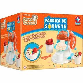 Brinquedo Fábrica De Sorvete Faz De Verdade Da Estrela