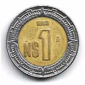 311 Dmd- Moeda 1993- México- N$ 1- Estados Unidos Mexicanos