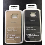 Funda Case Samsung Galaxy S7 Edge Negro Y Dorado