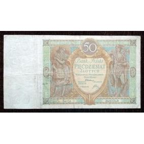 Billete 50 Zlotych 1929 Polonia Pick 71 Muy Bueno F