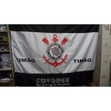 Linda Bandeira Do Corinthians 1,30 Altura X 1,80 Comprimento