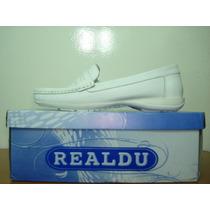 Zapatos Blancos Para Enfermeras 100% Cuero Marca Realdu