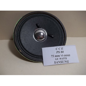 Mini Alto Falante Cce Ps-80 75mm 4 Ohms 0,8w