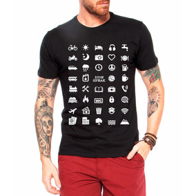 Camiseta Viajante 40 Icon Speak Masculina Viajem Masculina