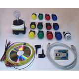 Ps3 Y Pc Arcade Interfaz Usb +1 Palanca +13 Botones + Cables