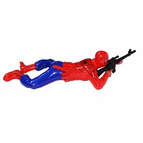 Kit 2 Boneco Homem Aranha Arma Atirador Articulado