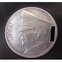 Moeda De Níquel. Alemanha Nazista. 3o. Reich. 1935. 5 Mark.