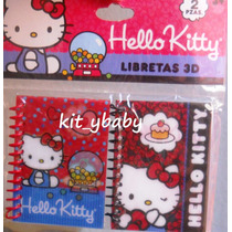 Fiesta De Hello Kitty, Varios Art. Escolares, Libreta, Pluma