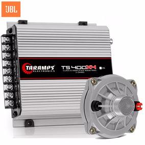 Kit 1 Amplificador Taramps Ts 400x4 2 Ohms + 1 Driver Jbl