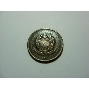 Rara Moeda 20 Réis 1897 República Bronze Data Muito Rara !