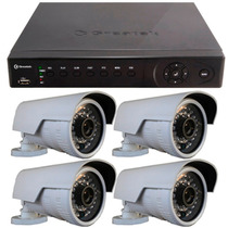 Kit Cftv Segurança Nvr + 4 Câmera Ip 2mp 1080p Full Hd Onvif