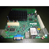Board Intel Mini Ddr2 Procesador Intel Athom Integrado+2gb