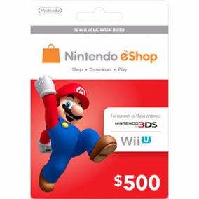 Tarjeta Nintendo Eshop $500 Mxn Prepago Wii U Nintendo 3ds