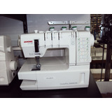 Máquina Collareta Tapa Costura Familiar Janome 2000 Cpx
