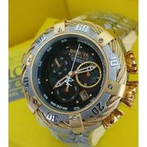 Lindo Relógio Invicta 21355 Thunderbolt Prata Dourado Novo