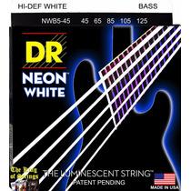 Encordoamento P/ Baixo De 5 Cordas Dr Neon - Branca .45