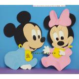 2 Figuras Minnie Bebe Y/o Mickey Bebe Goma Eva 30 Cm