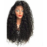 Peruca Wig Front Lace Cabelo Humano, Com Luzes