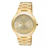 Relógio Allora Feminino Dourado Almas Gêmeas Ouro 24k + Nf