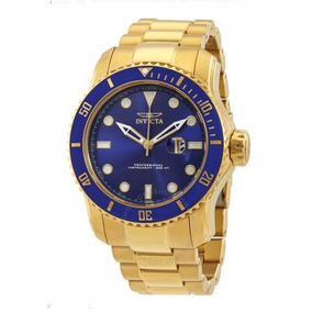 Invicta Pro Diver Blue Dial 18kt Gold
